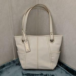 Relic White Faux Leather Double Straps Handbag